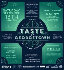 Taste of Georgetown poster
