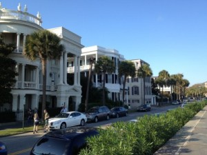 Manses along Battery Row in Charleston