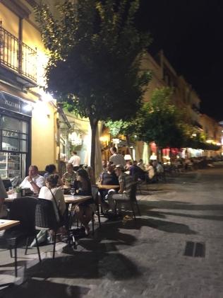 Sidewalk cafes in Seville